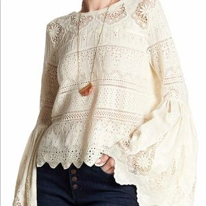 """Free People Sweater- """"Once Upon a Time"""" Medium"""
